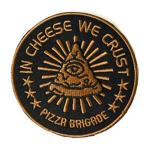 Pizza-Brigade-Iron-On-Patch-In-Cheese-We-Trust-Embroidered-Sew-On-Junk-Food