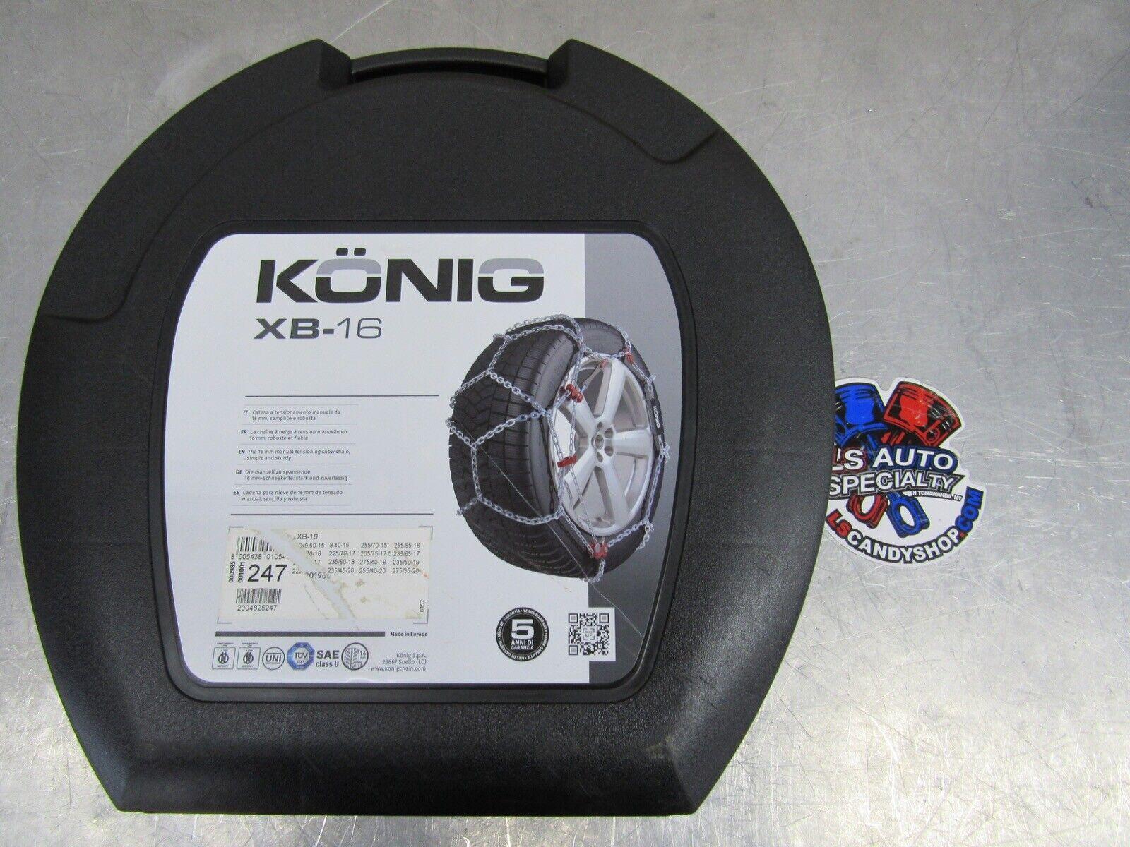 K/ÖNIG XB-16 235 Cadenas para la nieve set de 2