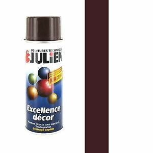 bombe peinture marron brun chataigne brillant ral 8016 aerosol 400ml julien ebay. Black Bedroom Furniture Sets. Home Design Ideas