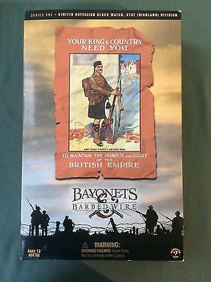 """Sideshow 1/6 Scale 12"""" Bayonets & Barbed Wire WWI British Black Watch 4101 A"""