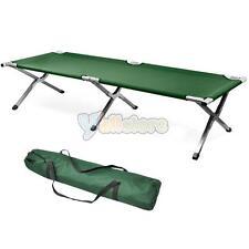 Portable Folding Cot Camping Military Medical Hiking Fish Bed Sleeping Cot  Green