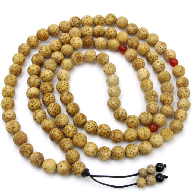 9mm Bodhi Seed 108 Prayer Beads Tibet Buddhist Mala Necklace