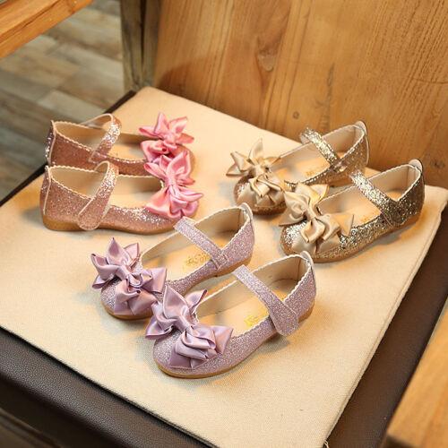 Mignon printemps bébé fille chaussures de loisirs Toddler Princess Flats Kids Robe Chaussures