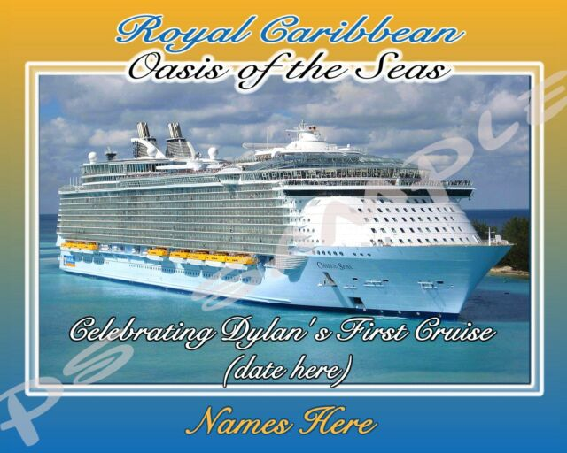 8x10 Norwegian Cruise Line (any Ship) - Travel Souvenir Custom Magnet