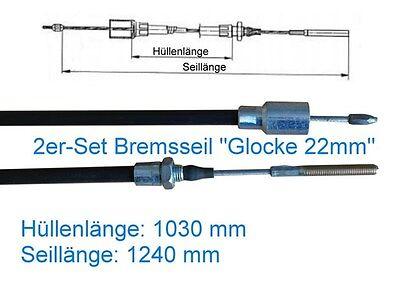 PKW Anhänger Knott 22 mm Glocke Bremsseil Seilzug Bremsseile Bowdenzug f