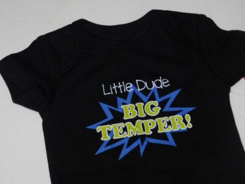 Boy 0 3 6 9 Month Infant Newborn Little Dude Big Temper One Piece