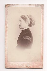 Vintage-CDV-Unidentified-Woman-Maler-Buchner-Photo-Stuttgart