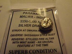 1150-1300-AD-Paramara-Malwa-India-ExcelleSilver-Billion-Drachm-Superb-Condition2