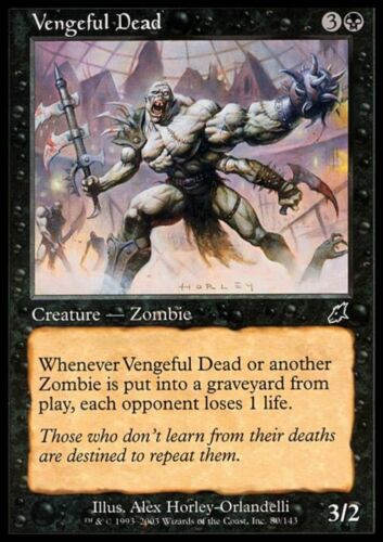 VENGEFUL DEAD Magic SCG Mint MORTO VENDICATIVO
