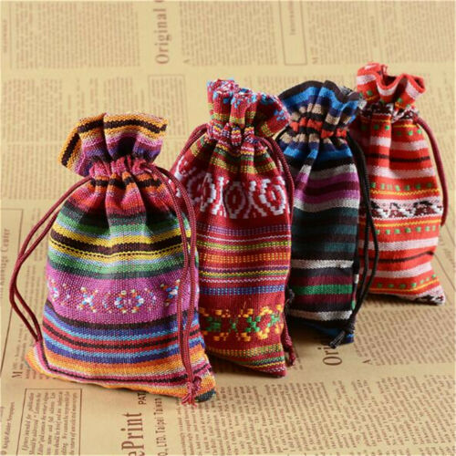 20PCS Cotton Jewelry Packing Pouches Wedding Party Favour Bohemia Gift Bags
