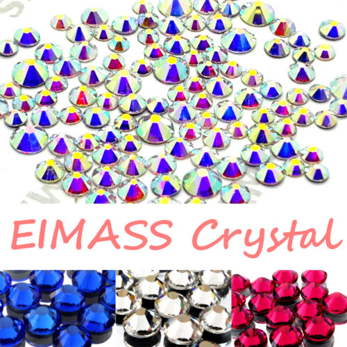 Gems 500 x EIMASS® 7747 Range Hot Fix Glass Crystals Flat-Back Rhinestones