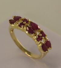 Damen-Ring mit Rubin / 585er 14 Karat Gold