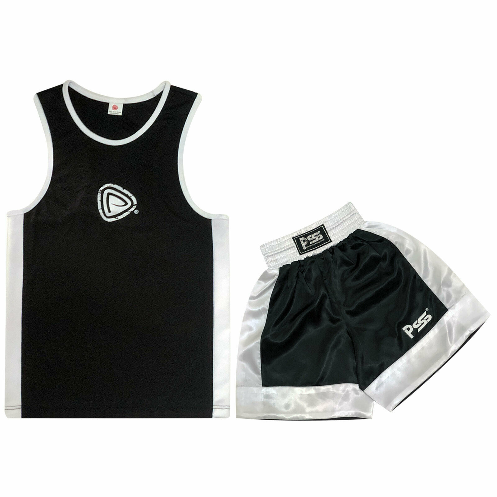 Black Kids Set 3 Pcs Boxing Uniform Boxing Glove 1012 Focus Pad 1106 SET - 12