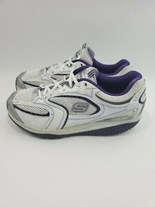 Sketchers-Shape-Ups-12320-White-Purple-Toning-Athletic-Shoes-Women-039-s-Size-10