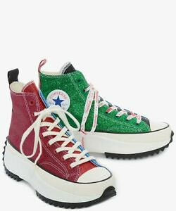 Details about NEW Converse x JW Anderson Run Star Hike Glitter platforms Chuck 70 high limited
