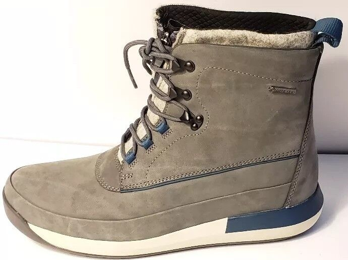 CLARKS JOHTO RISE GTX BOOTS GREY blueE 26119771 MENS SIZE US 10 NEW