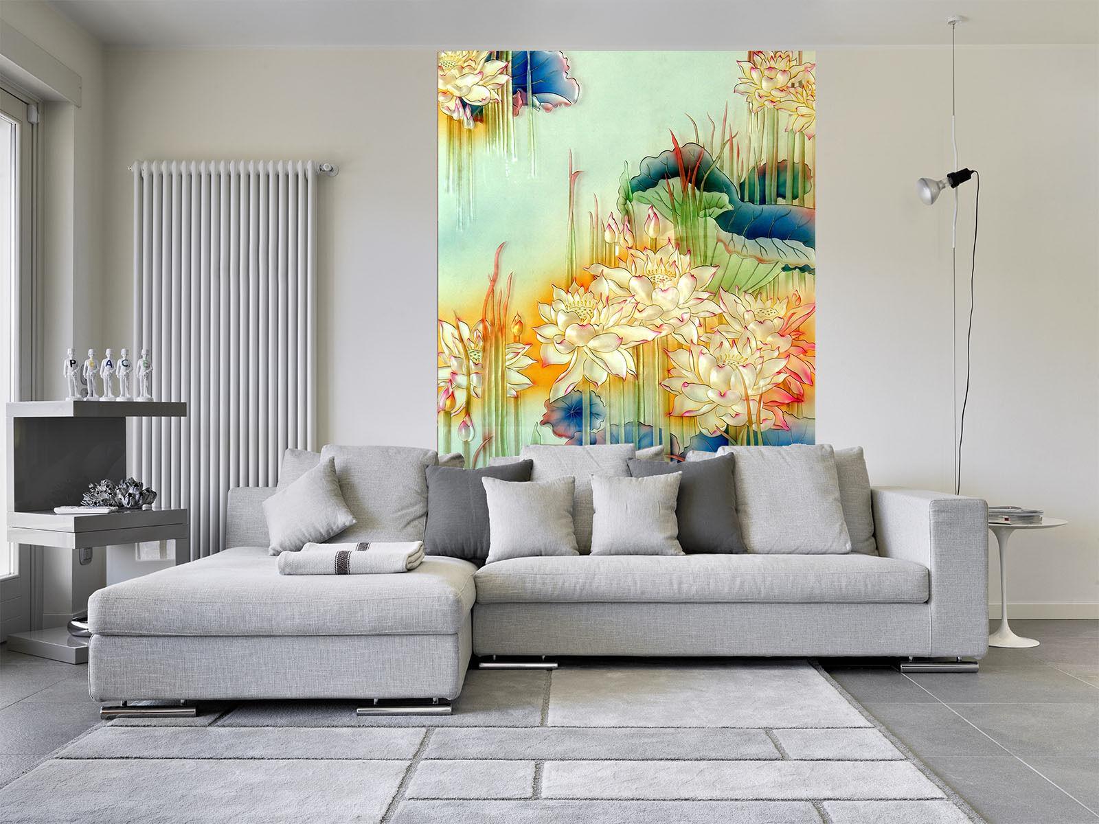 3D Beaux Lotus 890 Photo Papier Peint en Autocollant Murale Plafond Chambre Art