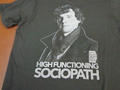 BBC Sherlock High Functioning Sociopath Navy Men/'s T-Shirt New