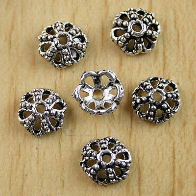 30pcs Tibetan silver crafted torus spacer beads H0210