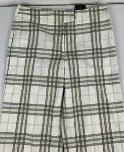 Burberry-London-Nova-Check-Cropped-Pants-Women-s-6-Made-France-Casual-Cotton