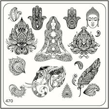 MoYou Square Stamping Art Image Plate 470 Ethnic Style, India, Buddha, Template