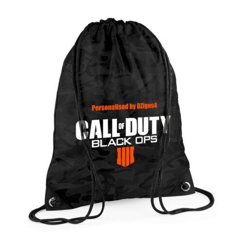 COD - Sac de Gym-au choix personnalisé Black Ops 4 Call of Duty IIII