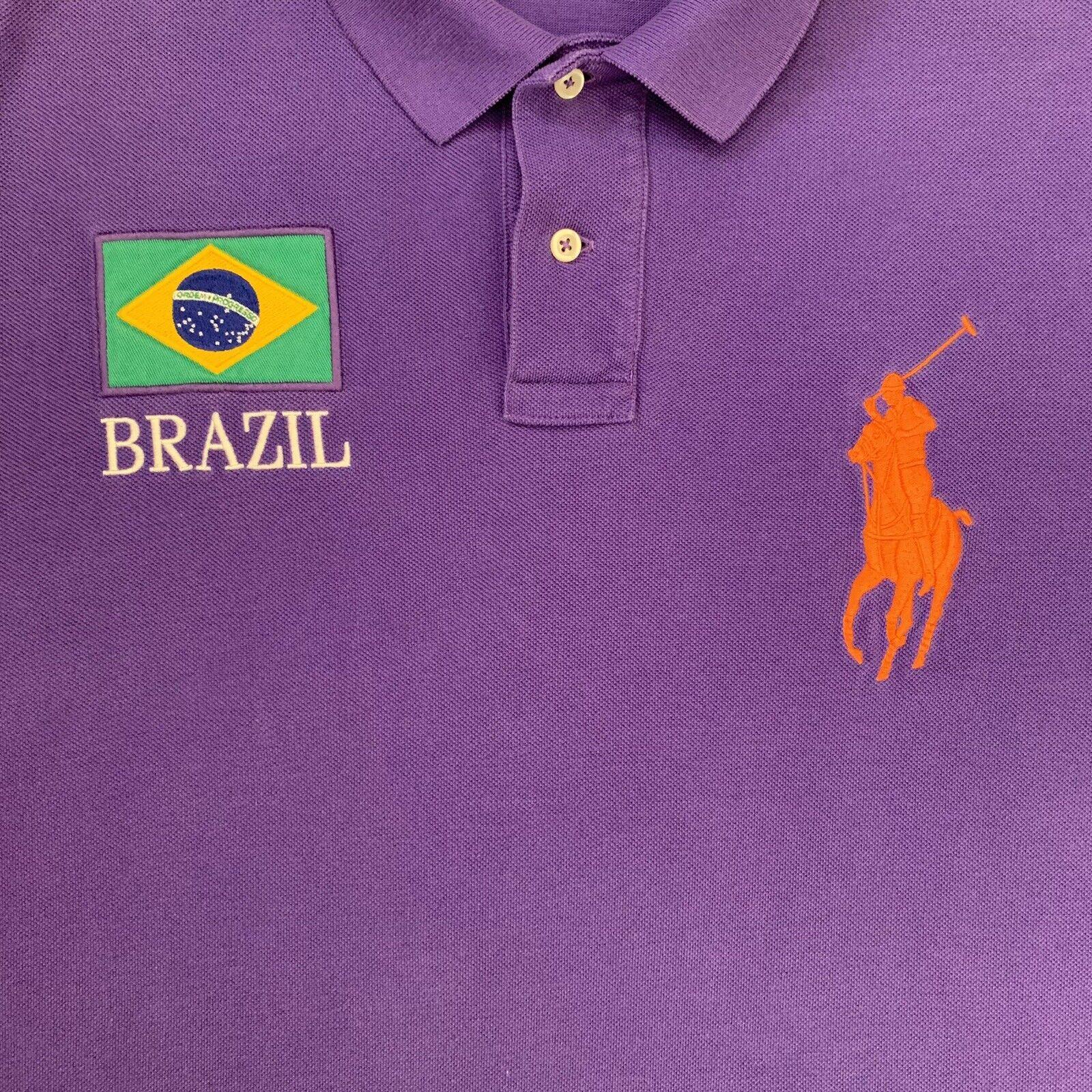 Vintage Polo Ralph Lauren Brazil Rugby Shirt XL P… - image 3