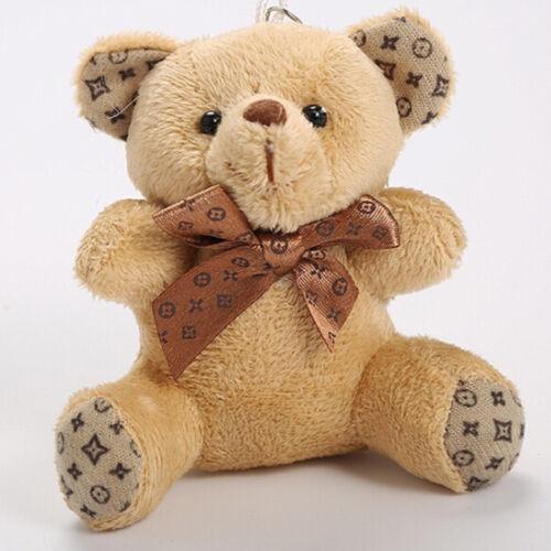 Neue 10 cm Plüsch Puppe Bär Mode Handytasche Schlüsselanhänger Anhänger Hochz YR