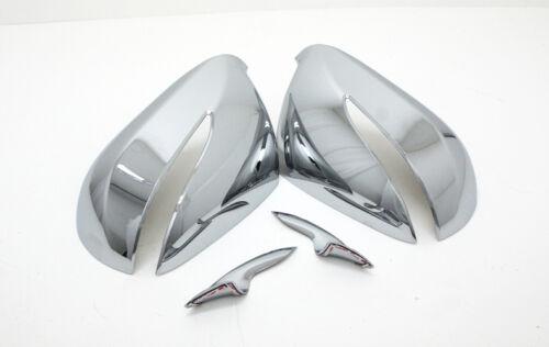 Chrome Side Mirror Cover LED 4P For 2012 2013 2014 Hyundai Santa Fe Sports  DM