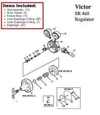 Victor SR460A Acetylene Regulator Rebuild/Repair Parts Kit w/ DIAPHRAGM