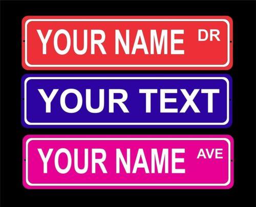 Custom personalized indoor//outdoor aluminum novelty street sign//door plaque 3x12