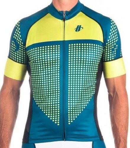 Hincapie Vantage Men's XL Performance Fit Cycling Jersey bluee Green NEW freeshpg
