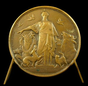 Médaille Société protectrice des animaux Mr Baretti 1908 par Doublemard medal - France - Type: Mdailles franaises Métal: Bronze - France