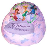 Disney Fairies Tinker Bell Kids Sofa Bean Bag Chair, Girls - Filled In Usa