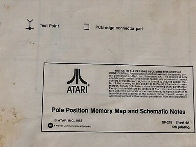 atari\u0027s pole position memory map \u0026 schematic notes 5th printing arcade manual ebay