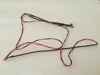 Archery Bow String 70 Inch Bow 8125 16 Strands electric red and black