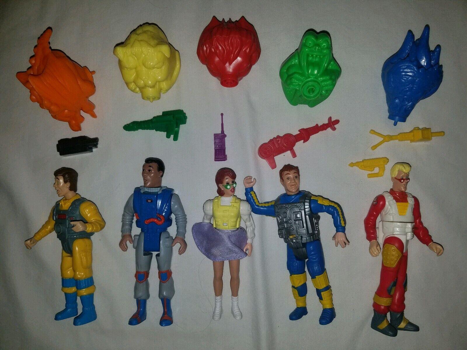 1986 Kenner Real Ghostbusters SCREAMING HEROES Set of 5 MINT Complete ghosts