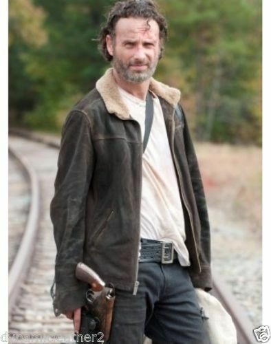 The Walking Rick Lincoln Andrew Giacca pelle 100 Dead bnwt in Grimes scamosciata rOwdOqB