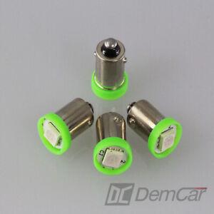 4-X-LED-Lampe-Universel-1-SMD-H6W-BA9S-Couleur-Vert