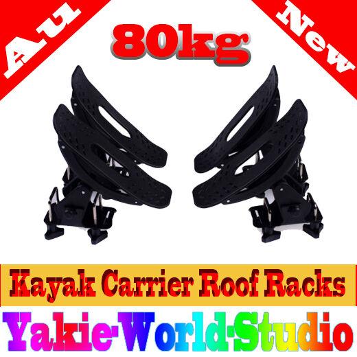 Universal Kayak Carrier Holder Saddle Watercraft Roof Rack Arm Canoe Car Loader
