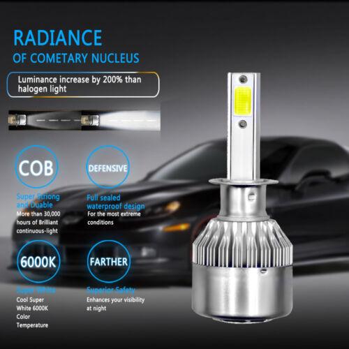 H1//H4//H7//H11 8000LM 6000K Car COB LED Conversion Headlight Bulb Hi//Lo Beam White