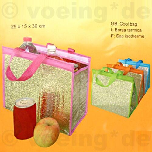 3x Kühltasche Kühlkorb Thermotasche Isoliertasche 30x28x15cm mit Klettverschluss