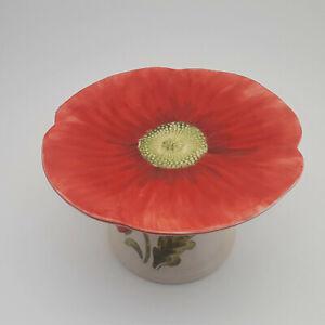 Maxcera-Cream-Poppies-Ceramic-Pedestal-Cake-Plate-Stand