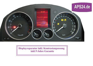 VW-Passat3C-Golf-5-Touran-Eos-FIS-Dispaly-defekt-Kombiinstrument-Tacho-Reparatur