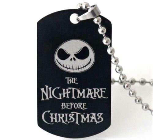gothic//NBC//Jack Skellington NIGHTMARE BEFORE CHRISTMAS Dog Tag Pendant//Necklace