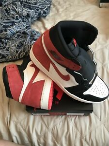 the latest 3085b 6ccd6 Image is loading Air-Jordan-1-Retro-High-Track-Red-Size-