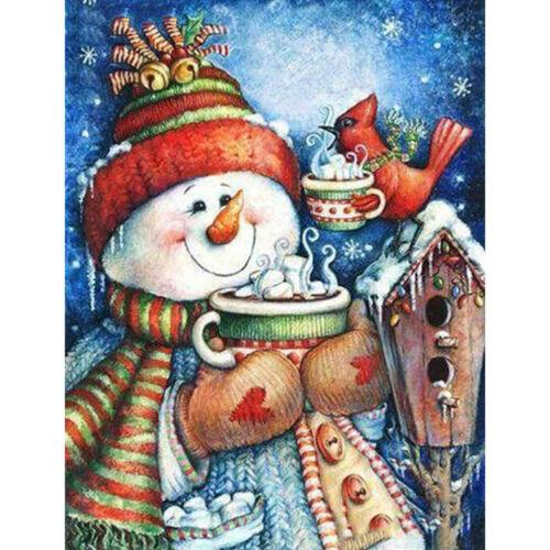5D DIY Full Drill Diamond Painting Christmas SnowMan Embroidery Cross Stitch Kit