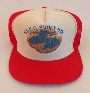 Image is loading Vintage-Great-Smoky-Mountains-Snapback-Trucker-Mesh-Hat- 0e2afd1ee830