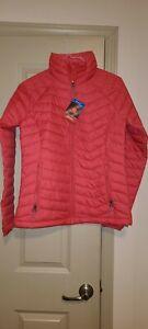 COLUMBIA Powder Lite Omni-HEAT Quilted Jacket Women's size M bold orange