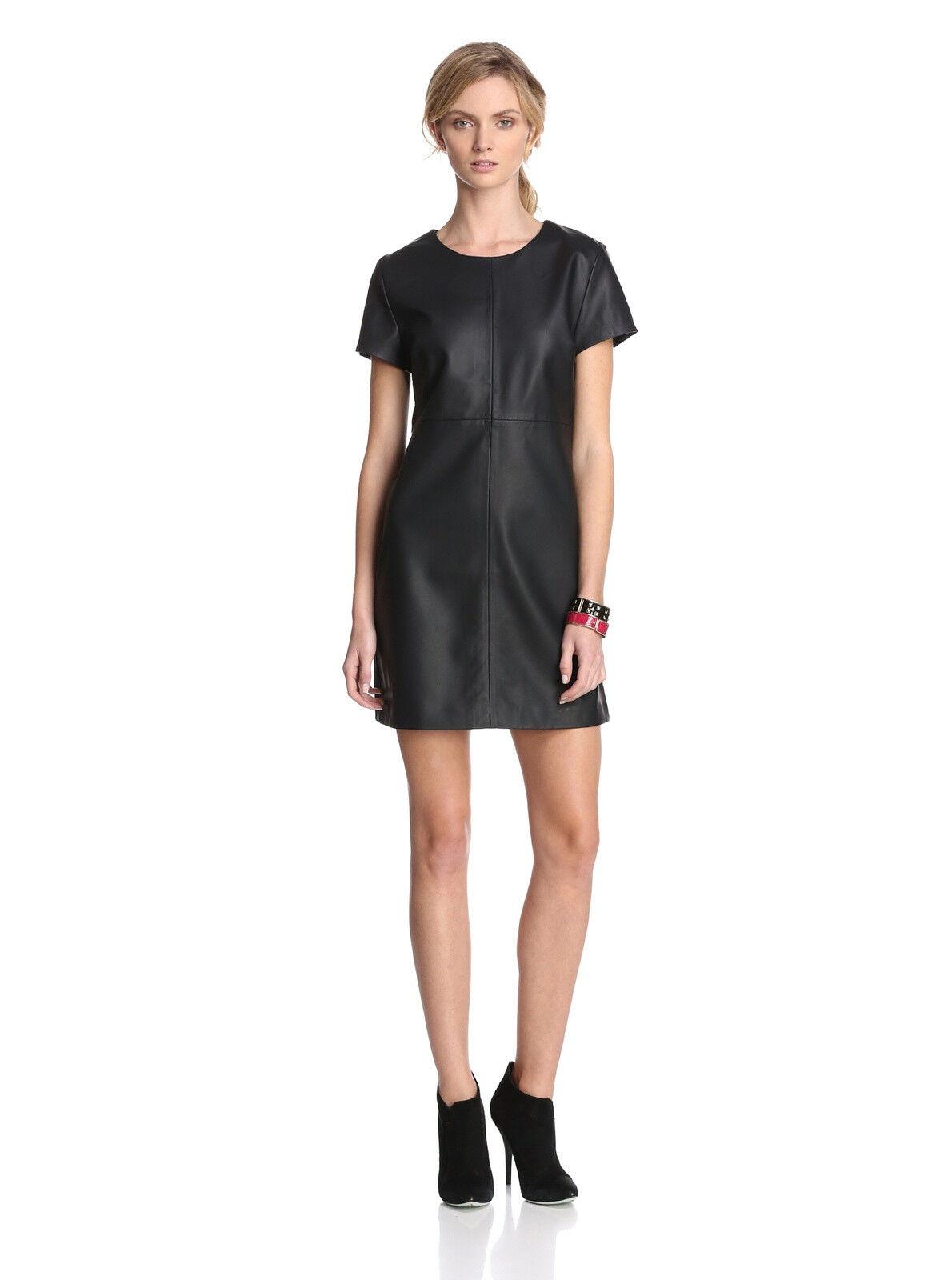 JAYE. E Woherren Faux Leather Dress  - Tag
